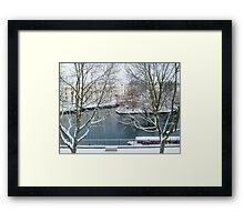 Winter on the Canal Framed Print