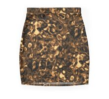 Gold Ripple Mini Skirt