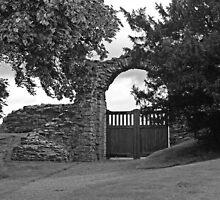 Norham Castle Gates by Ryan Davison Crisp