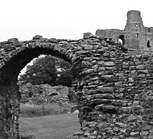 Norham Castle (B&W) by Ryan Davison Crisp