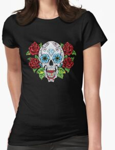 Sugar Skull Womens Fitted T-Shirt