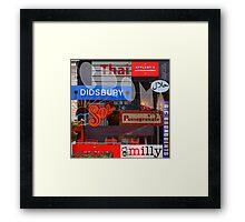 M20 MASHUP #2 Framed Print