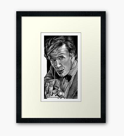 Matt Smith, DOCTOR WHO XI Framed Print