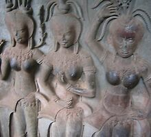 apsara dancers by Collymarps