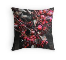 Mottled Red Berries. Throw Pillow