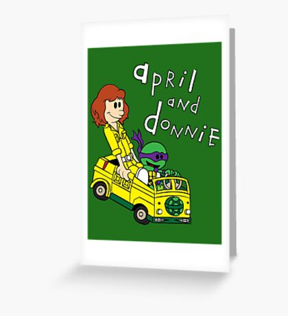 April and Donnie Greeting Card