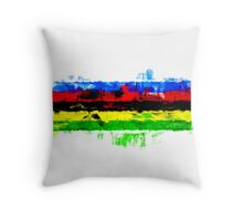 Rainbow Jersey Abstract Throw Pillow