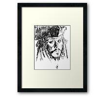 Jack Sparrow art Framed Print