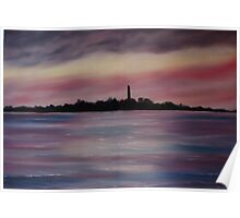 """Scattery Island - October Sunset"" - Oil Painting Poster"