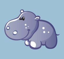 Funny blue hippo Kids Clothes