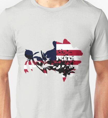 Patriotic Peony Unisex T-Shirt