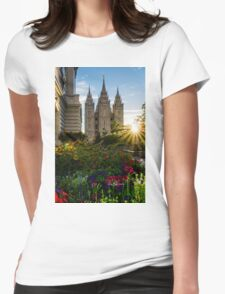 Starburst SLC LDS Temple Womens Fitted T-Shirt