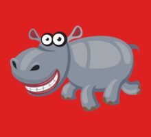 Smiling funny hippo Kids Clothes