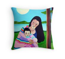 Mother and Child III Throw Pillow