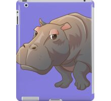 Cute cartoon hippo iPad Case/Skin