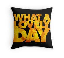 What a lovely day v.2 Throw Pillow
