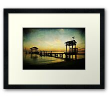 East Beach Pier Framed Print