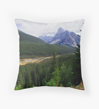 Valley of the Ten Peaks Throw Pillow