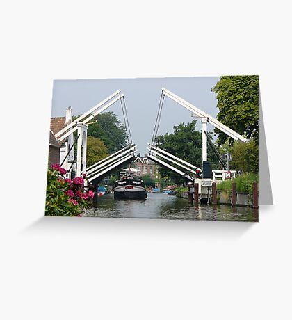 The opening of the bridge at Breukelen Greeting Card