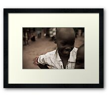 happiness is a thong on one arm Framed Print
