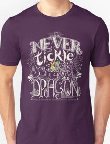 Never Tickle a Sleeping Dragon (Color, Light) T-Shirt