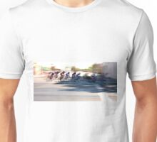 Women cyclists Racing into the Turn Unisex T-Shirt