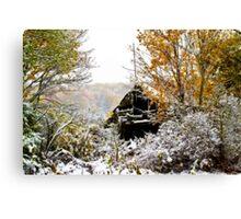October Snow Canvas Print