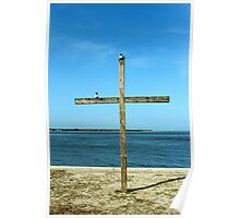 Seagulls On The Cross Poster