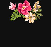 Vintage Flower Womens Fitted T-Shirt