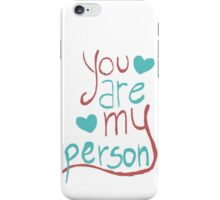 My person iPhone Case/Skin
