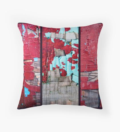 Red Paint Throw Pillow