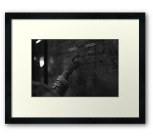 Mapping Framed Print