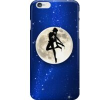 Sailor Moon Silhouette in front of Realistic Moon iPhone Case/Skin