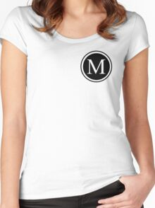 Circle Monogram M Women's Fitted Scoop T-Shirt