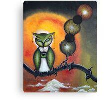 Wisdom - Owl art by Angieclementine Canvas Print