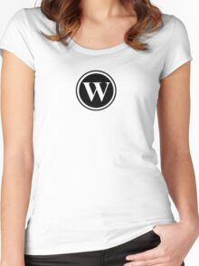 Circle Monogram W Women's Fitted Scoop T-Shirt