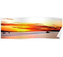 Magnetic sunset Poster