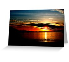 Magnetic sunset II Greeting Card