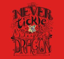 Never Tickle a Sleeping Dragon (Color) One Piece - Short Sleeve