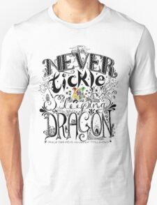 Never Tickle a Sleeping Dragon (Color) T-Shirt