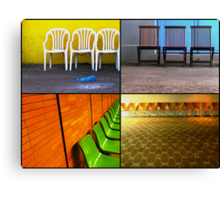Chairs Collage Canvas Print