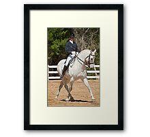 Dressage Horse Portrait Framed Print