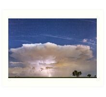 Springtime Thunderstorm On the Colorado Plains Art Print