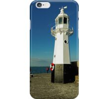 Harbour Lighthouse, Mevagissey iPhone Case/Skin