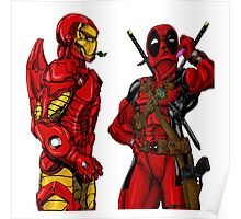 Deadpool and Ironman Poster