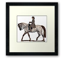 Appaloosa Saddleseat Horse Portrait Framed Print