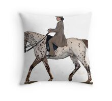 Appaloosa Saddleseat Horse Portrait Throw Pillow