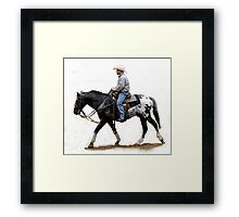 Appaloosa Working Partner Horse Portrait Framed Print