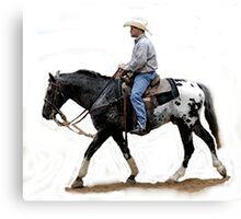 Appaloosa Working Partner Horse Portrait Canvas Print