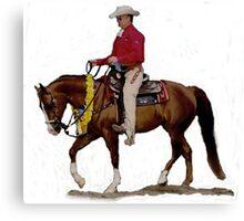 Arabian Western Pleasure Horse Portrait Canvas Print